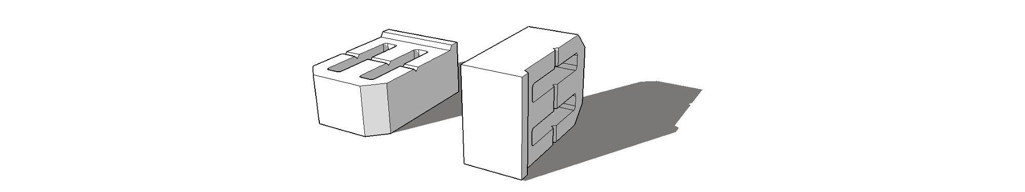 Блок для подпорных стенок