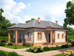 Малоэтажный жилой дом, коттедж, проект Болгария