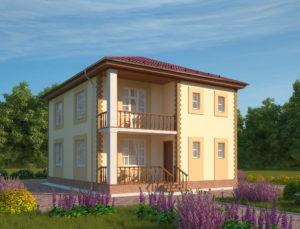 Малоэтажный жилой дом, коттедж, проект Севилья
